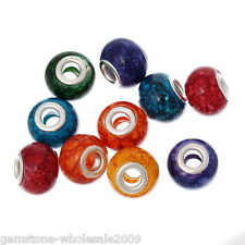 Wholesale Lots Glass European Charm Beads Mixed Color For Charm Bracelets