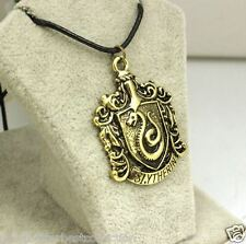 Harry Potter Hogwarts School Badge Antique Bronze Vintage Necklace Pendant