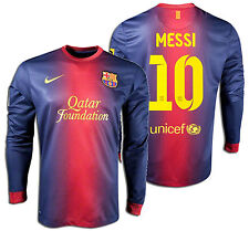 NIKE FC BARCELONA LIONEL MESSI LONG SLEEVE HOME JERSEY 2012/13
