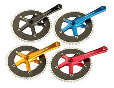 Pedalier Velo FIXED-GEAR BICYCLE tray SHUN gold black red blue crankset bike