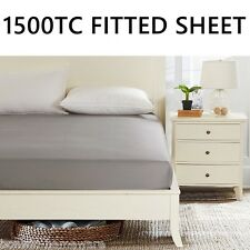 1500TC 100% EGYPTIAN COTTON COLLECT 40CM WALL FITTED / BOTTOM SHEET 5 COLOURS