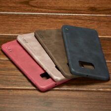 Genuine HandMade ultra-thin Leather Hard Back Case Cover For Samsung Galaxy