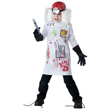 Mad Scientist Scary Horror Doctor Zombie Costume Halloween Fancy Dress