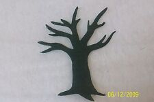 8 Black Tree - No Leaves Sew Iron On Quilt Die Cut Applique