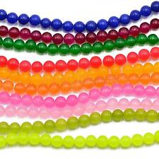 High Quality Jade Gemstone Round Spacer Loose Beads 6mm Jewelry FINDINGS 15""
