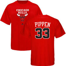 Scottie Pippen ADIDAS Chicago Bulls Primary Logo Jersey Red T Shirt Men's