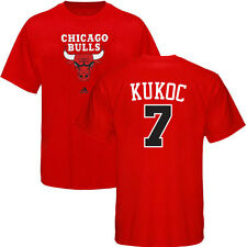 Toni Kukoc ADIDAS Chicago Bulls Primary Logo Jersey Red T Shirt Men's