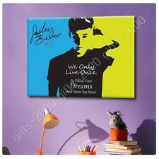 Synthetic CANVAS  Alonline Designs Justin Bieber Never say never photo print