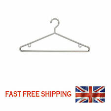 Packs of 3 SILVER PLASTIC COAT CLOTHES HANGERS Skirt Hooks & Trouser Bar 1232