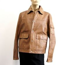 $4550 New Authentic Gucci Mens Leather Jacket Blazer 308719