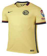 NIKE CLUB AMERICA MATCH HOME JERSEY 2015/16 MEXICO Lemon Chiffon/Armory Navy