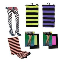 LADIES HALLOWEEN #FISHNET NEON POTHOLE TIGHTS FANCY DRESS COSTUME ACCESSORY