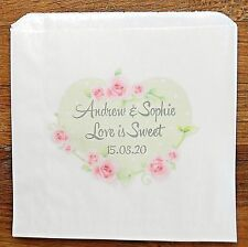 Personalised Wedding Paper Sweet Bags for Vintage Wedding Sweet Buffet Candy