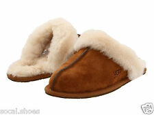 UGG AUSTRALIA WOMEN'S SHOES SCUFFETTE II CHESTNUT SLIPPERS 5661 ORIGINAL NEW