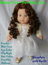 American Girl Doll Bitty Twin Girl Doll Design Your Own Custom OOAK Bitty Doll