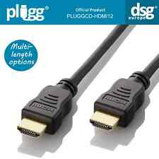OFFICE LEAD PLUGG® HDMI CABLE PREMIUM WITH ETHERNET 1080P 3D 2160P HD SKY XBOX