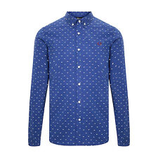 New Fred Perry Tipped Dobby Shirt - French Navy