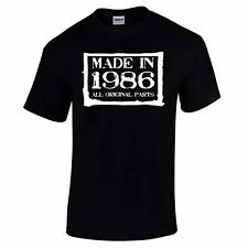 GIFT BOXED Made In 1986 30th Birthday Present Gift Retro Old Funny Mens T Shirt