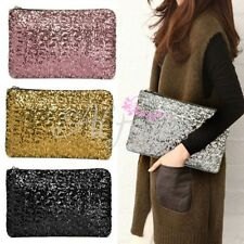 Glitter Sparkling Dazzling Clutch Evening Bag Sequins Style Purse Party Handbag