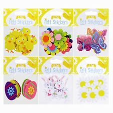 Easter Craft Felt Stickers - 8 Pack with 6 Easter Designs Easy-Peel Decoration
