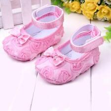 Non-Slip Newborn Infant Baby Toddler Slippers Flower Shoes 7 Colors Girls  A94