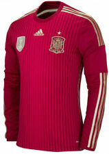 ADIDAS SPAIN LONG SLEEVE HOME JERSEY FIFA WORLD CUP BRAZIL 2014