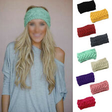Flower Crochet Knit Knitted Headwrap Headband Ear Warmer Hair Muffs Band Hot