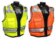 Radians SV59Z Class 2 HiVis Work Wear Surveyor Vest with Zipper