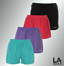 Ladies Branded LA Gear Light Weight Mesh Woven Shorts Pants Bottoms Size 6-20