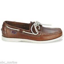 Men's Sebago Docksides Brown Oiled Waxy Deck/Casual Shoes **IDEAL GIFT**