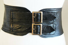 Black Corset Waist buckle Belt | Leather Buckle Belt | Corset Belt | Plus Size