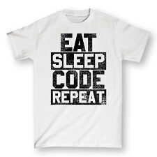 Eat Sleep Code Repeat Funny Computer Geek Nerd Humor Novelty Mens T-Shirt