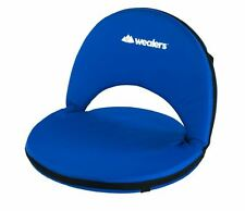 Wealers Padded Cushion Recliner Picnic Floor Chair, 5 Reclining Positions, Beach
