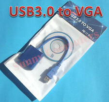 USB 3.0 to VGA Cable Video Display Card Graphic External Adapter for Windows 7 8