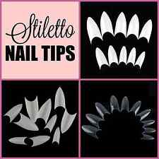 STILETTO Pointed Nail Tips **YOU CHOOSE!**