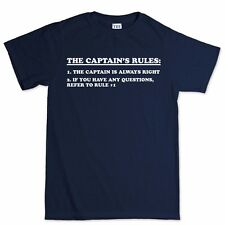 Captain Rules Boat Sailing Paddle Oars T shirt Tee T-shirt