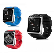 3 Colors iwatch Silicone Wirst Watch Band Strap Cover for iPod Nano 6 6g 6th Gen