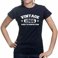 Vintage 1966 50th Happy Birthday Party Gift Present Ladies T shirt T-shirt Tee