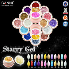 CANNI Starry Gel UV/LED Color Glitter Shimmer Soak Off Builder Gel Nail Art Tips