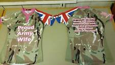 Proud Army Wife Pro fit Rugby shirt, ideal for Army v Navy Rugby, unofficial