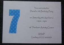 Personalised Boys Birthday Party Invitations/Thank You Cards ANY AGE Childrens