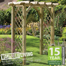 NEW WOODEN GARDEN ROSE ARCH PRESSURE TREATED TIMBER PERGOLA