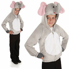 Childrens Elephant Fancy Dress Costume Dumbo Jungle Animal Kids Outfit 4-12 Yrs