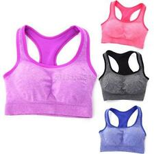 Women Ladies Breathable Yoga Fitness Workout Tank Top Seamless Padded Sports Bra
