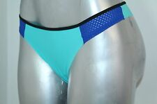 Victoria's Secret Pink Very Sexy Panty Low Rise Varsity Thong Aqua Blue NWT