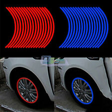 Motorcycle 10mm Car Truck Reflective Rim Tape Wheel Tire Stickers Decals Strips
