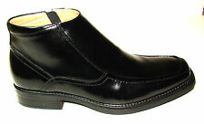 mens boots size8.LA MILANO.BLACK.LEATHER.HEELS.