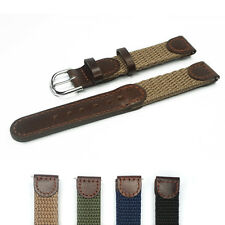 16mm 18mm 20mm 22mm Genuine Leather Nylon Watch Strap Watch Band Fits Swiss Army