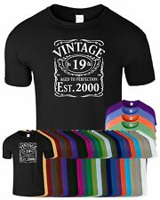 VINTAGE EST 1998 Mens TShirt Born 18th Year Birthday Present Mens Tshirt Gift