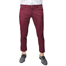 Men Mid Rise Zip Fly Slant Pockets Casual Cropped Pants